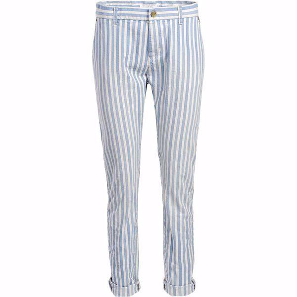 Summum Bukser Irregular Yam Dyed Stripe Blue