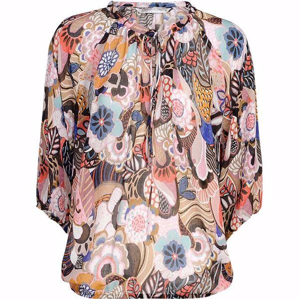 Summum Bluse Flower Print Multicolour