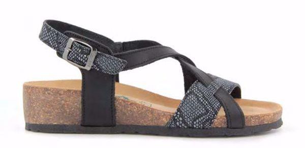 Bionatura Sandal Caucho Nero