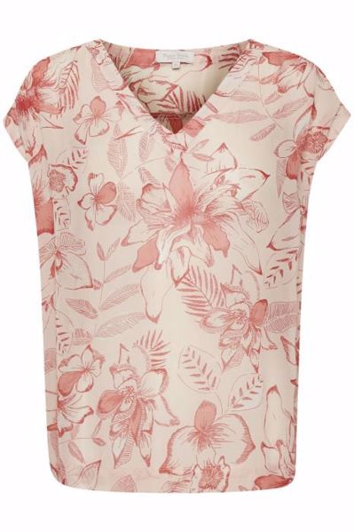 Part Two Bluse CherPW Flower Print w Lyre