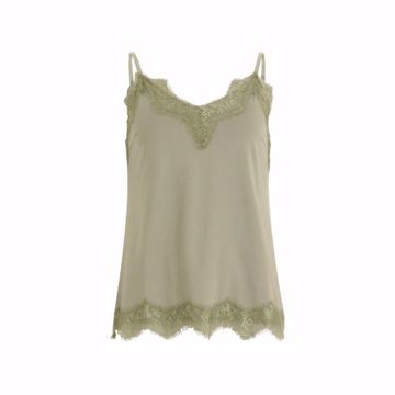 Coster Copenhagen Strap Top W. Lace Dusty Green