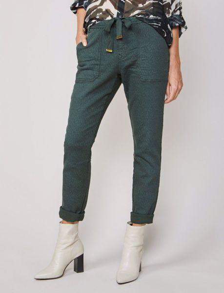 Summum Bukser Soft Sweat Printed Deep Green