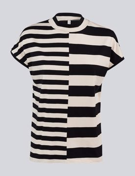 Summum Bluse Stripe Mix Black Shell