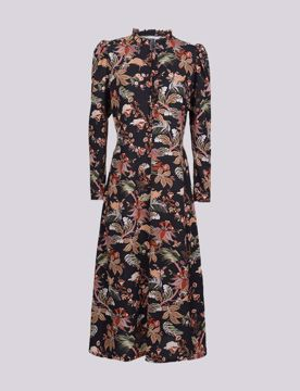 Summum Kjole Flower Print Black