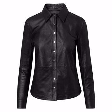 Depeche Læder Skjorte Black