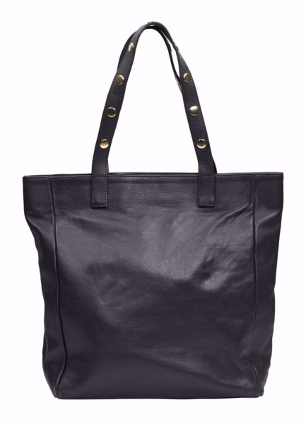 Tim & Simonsen Pernille stud shopper black gold