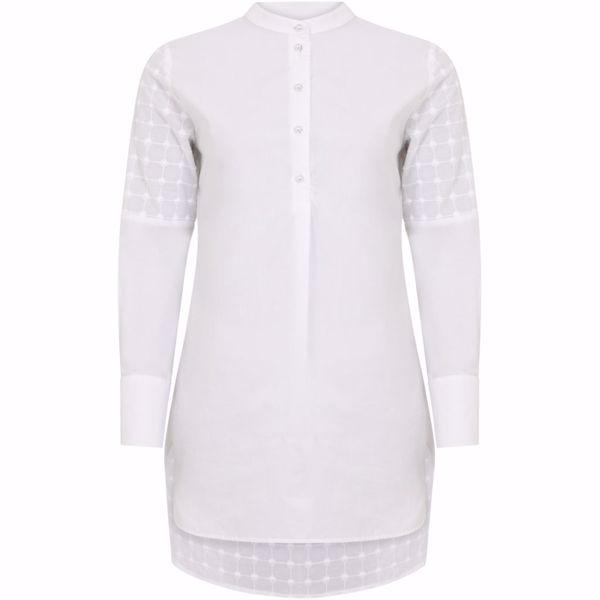 Coster Copenhagen Skjorte W. China Collar Off Whit