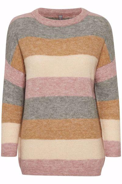 Culture Pullover Zidsel Striped Woodrose Melan