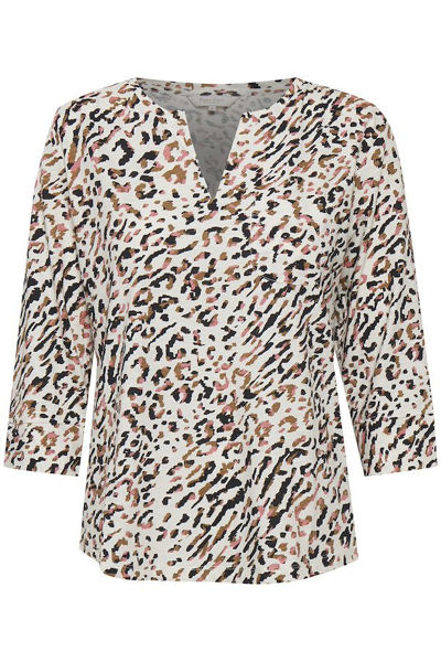 Part Two Bluse Kessie Abstract Leo Print