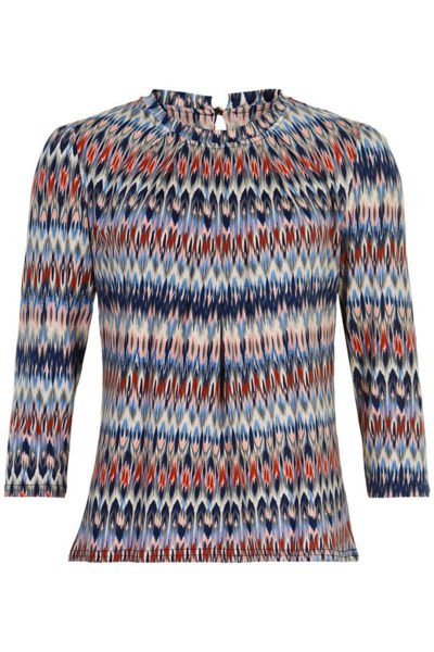 Infront Bluse Grazia 3/4 Sleeves Blue
