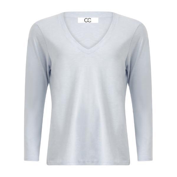 Coster Copenhagen T-shirt V-neck Powder Blue