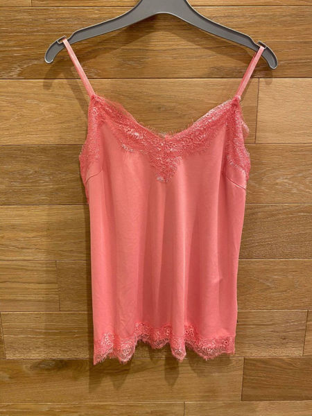Coster Copenhagen Strap Top W. Lace Soft Pink