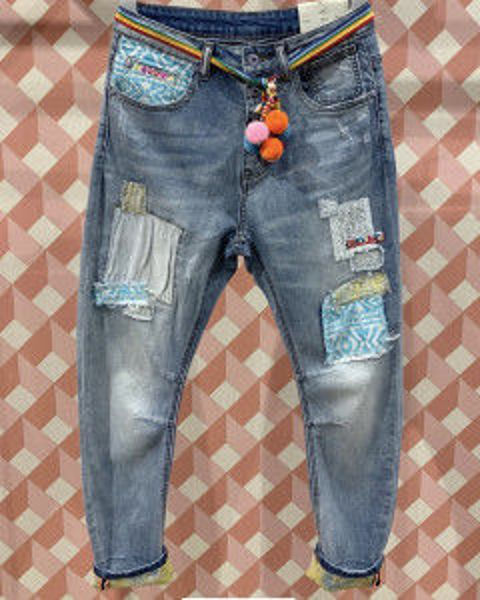 Cabana Living Jeans Dy Blue Patch