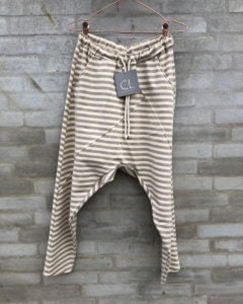 Cabana Living Bukser Baggy Pant Stribe Beige