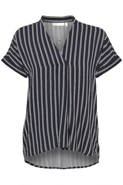 Inwear Bluse Viksa Marine Blue Stripe