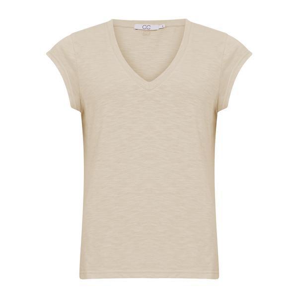 CC Heart T-shirt V Neck Cream
