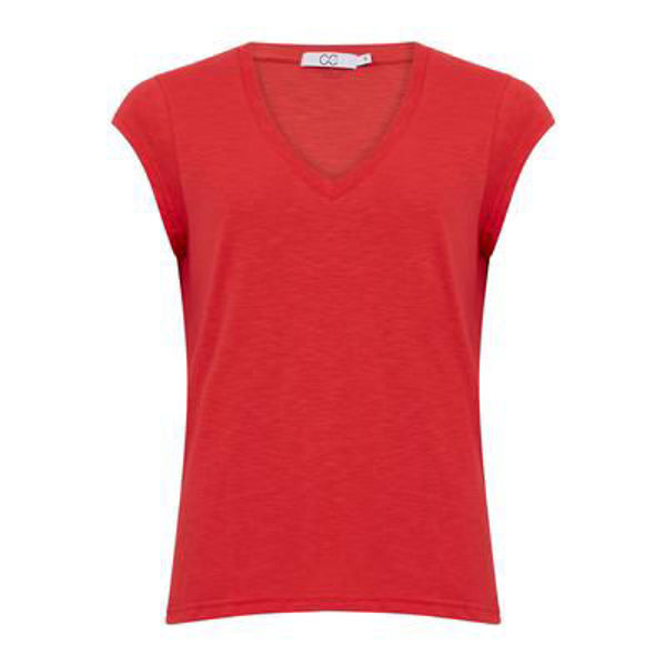 CC Heart T-shirt V Neck Papaya Pink
