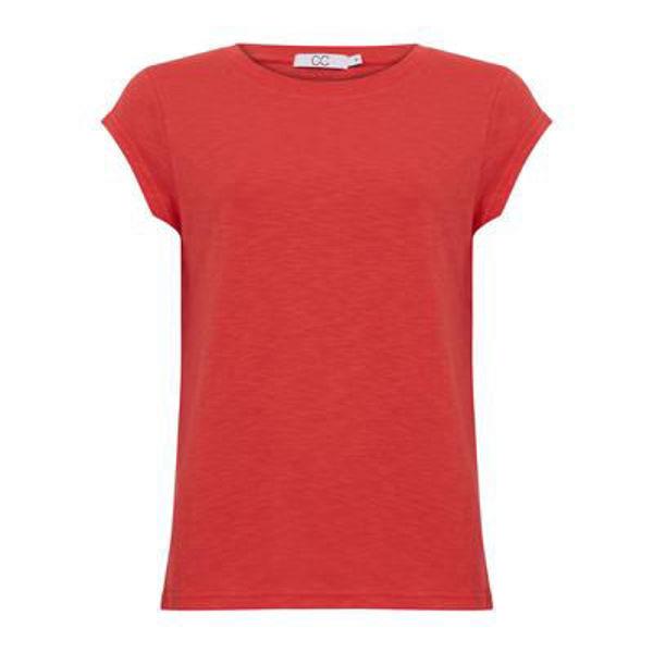 CC Heart T-shirt O Neck Papaya Pink