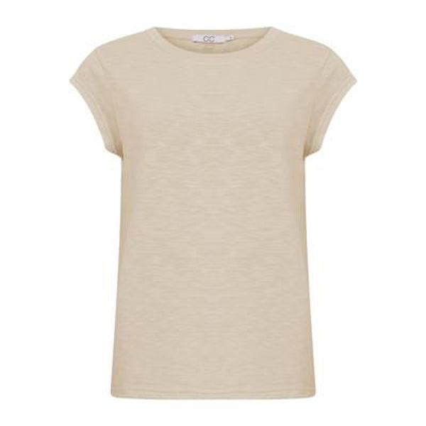 CC Heart T-shirt O Neck Cream