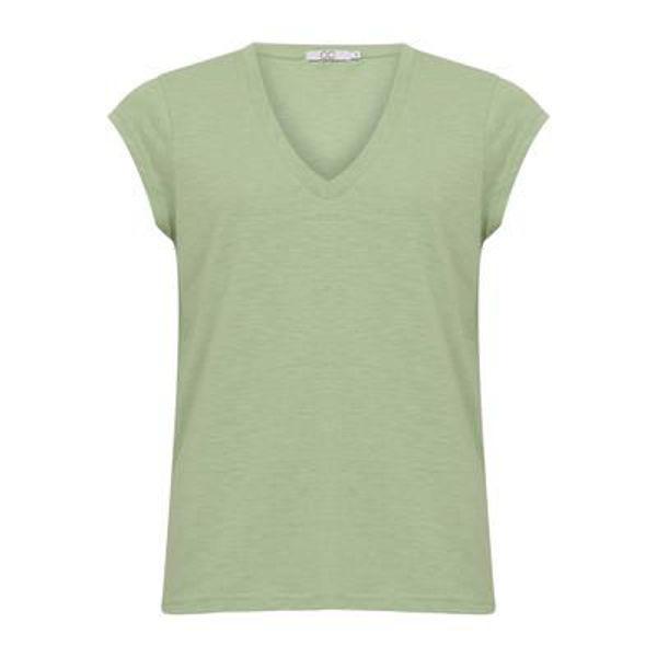 CC Heart T-shirt V Neck Pistacio