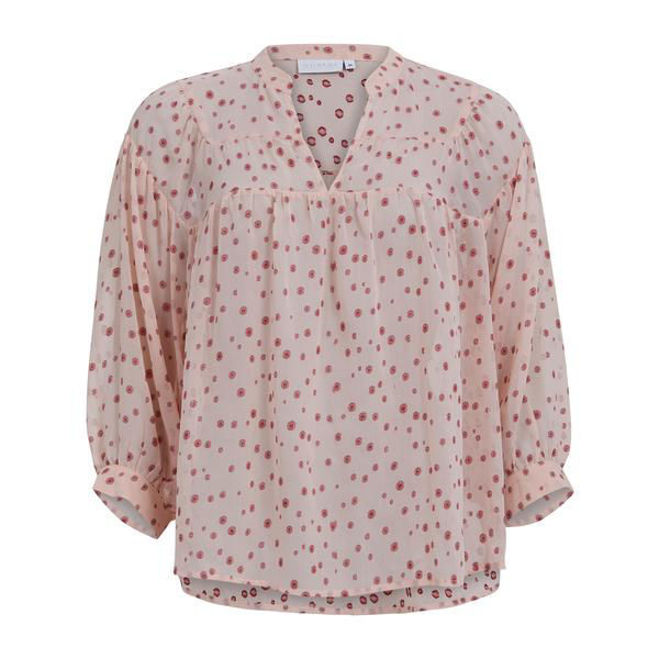 Coster Copenhagen Bluse W. Gatherings Persian Pink
