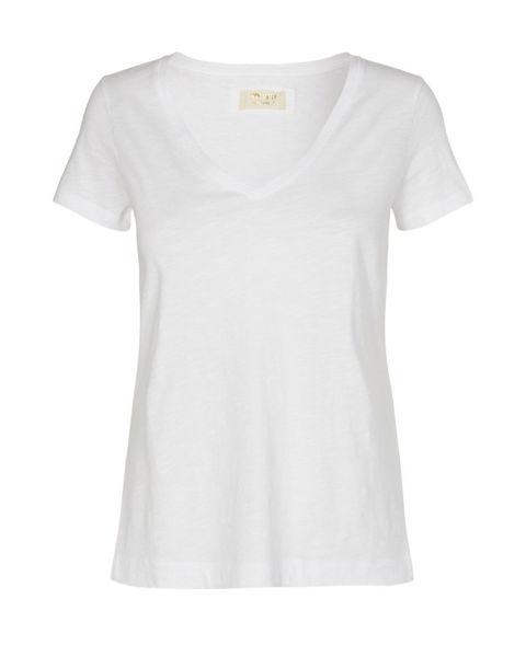 Mos Mosh T-shirt V-neck Arden Organic White
