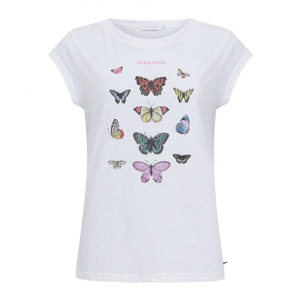 Coster Copenhagen T-shirt Butterfly White