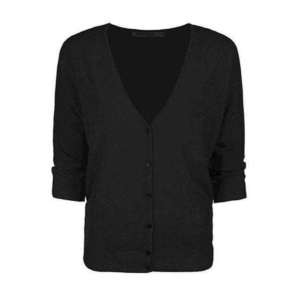 Summum Cardigan Blend Knit Black