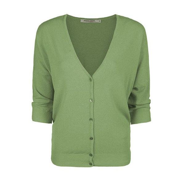 Summum Cardigan Blend Knit Soft Green Tea