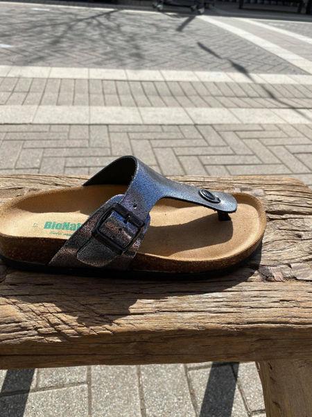 Bionatura Sandal Glitter Nero