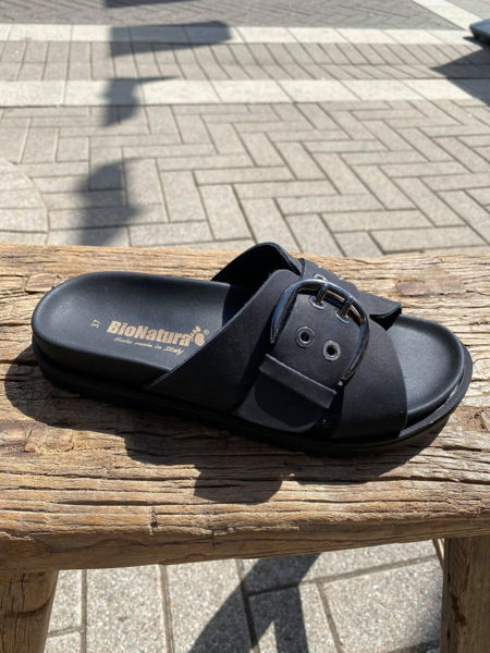 Bionatura Sandaler Nabuk Nero