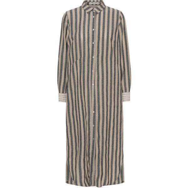 Costa Mani Kjole Oats Linen Stripe