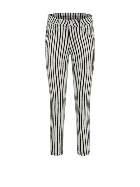 Para Mi Bukser Jill Painted Stripes Black
