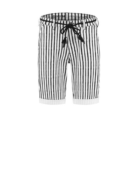 Para Mi Bukser Zoe Painted Stripes Black