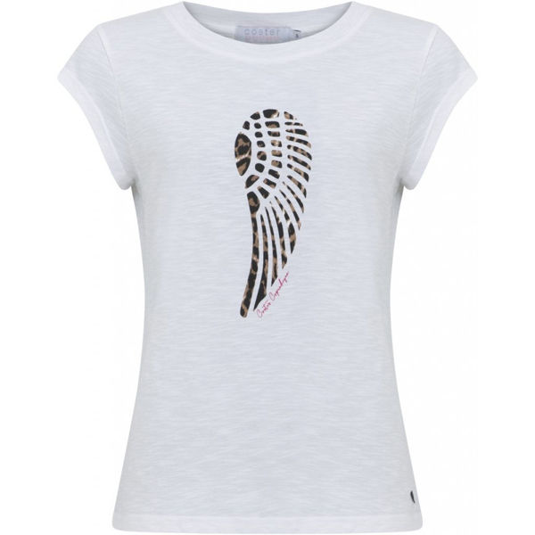 T-Shirt Leopard Wing White