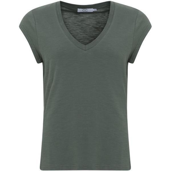 CCH T-shirt V-Neck Moss Green