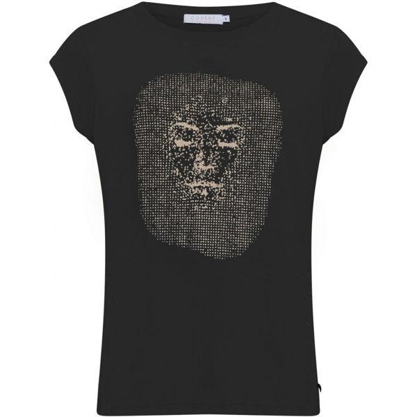 Coster Copenhagen T-shirt W. Gold Face Black