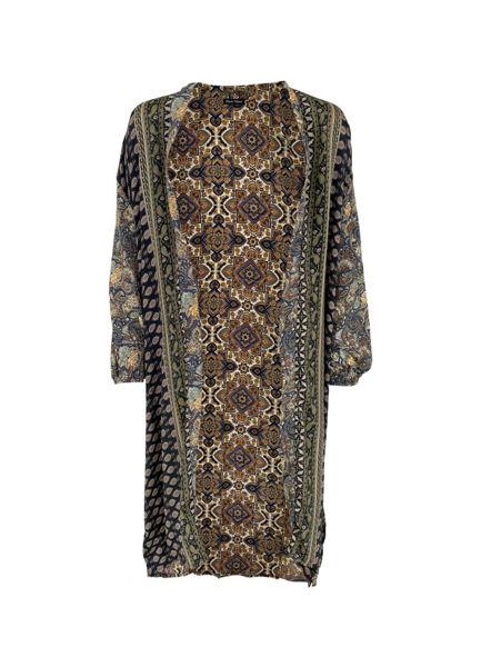Black Colour Kimono Luna Black Multi