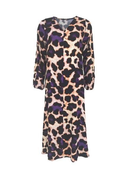 Black Colour Kjole Gilly Purple Leo